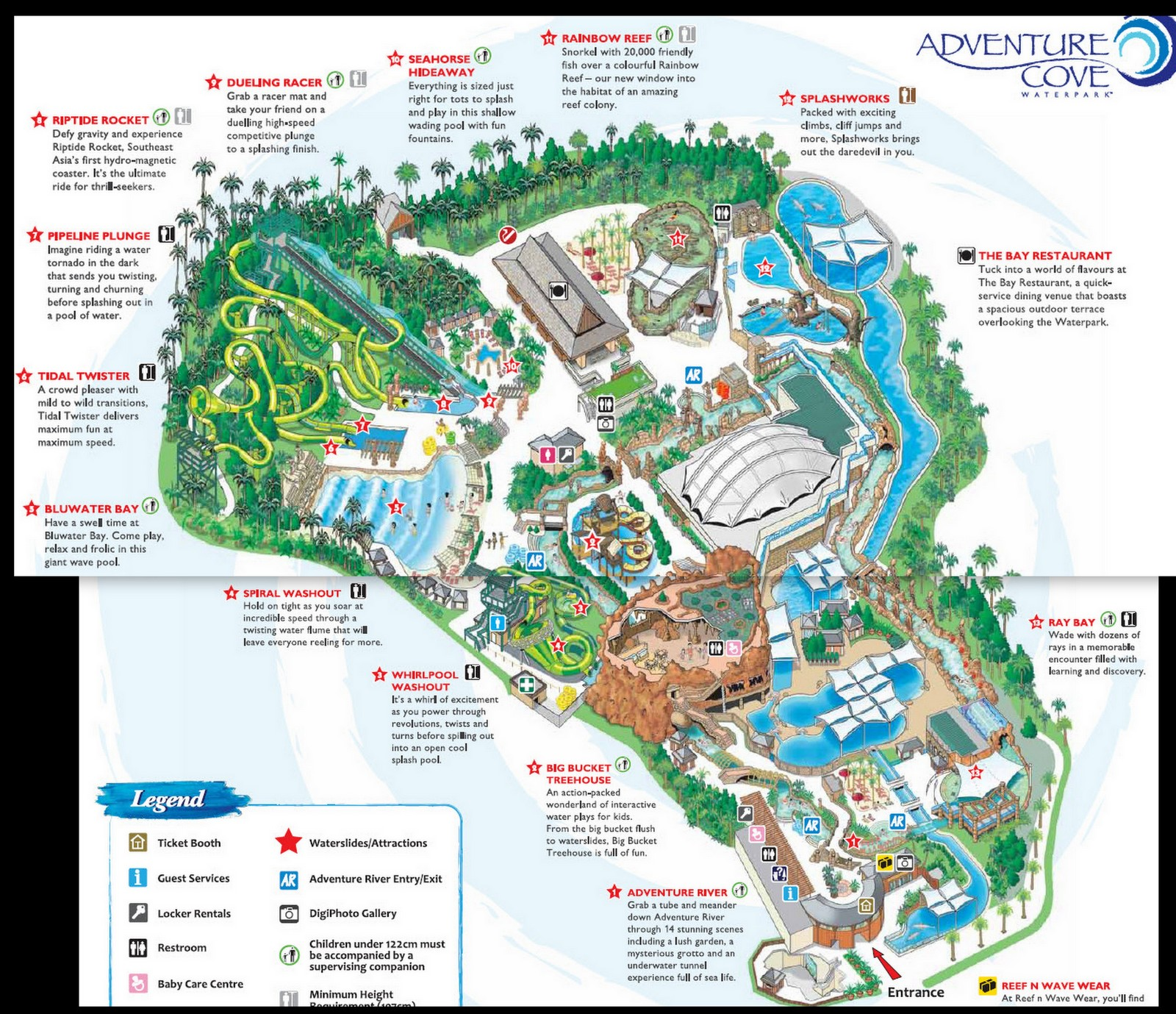 adventure cove map