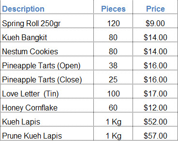 2014 Chines New Year cookies pricing.2014 Chines New Year goodies pricing, Chines New Year cookies for sale