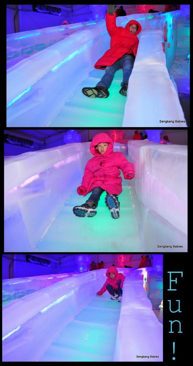 slides at Ice Art