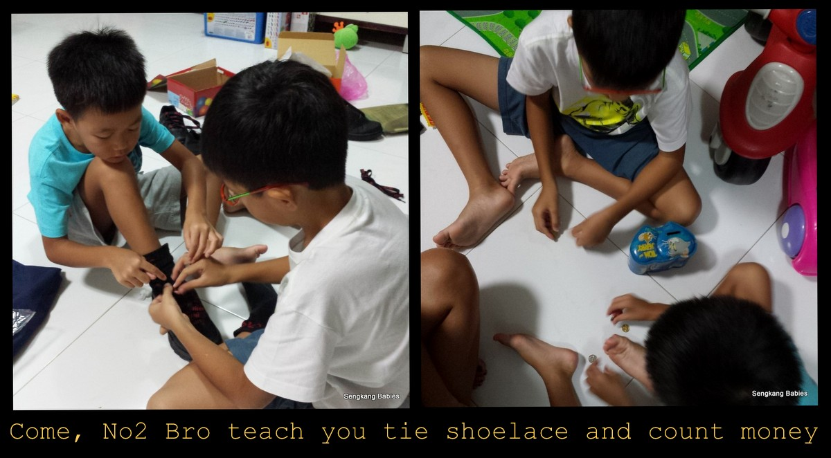 skills for p1 boys, how kids learn to tie shoe lace