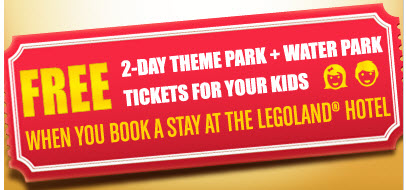 Legoland school holiday promotion