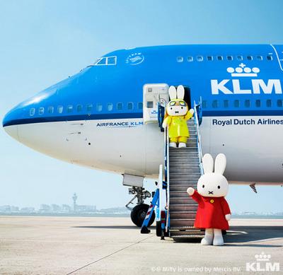 KLM Sponsor tulips for Singapore
