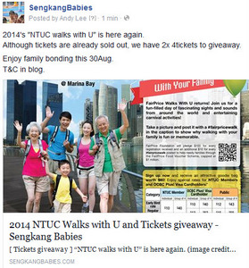NTUC Walks with U tickets sold out