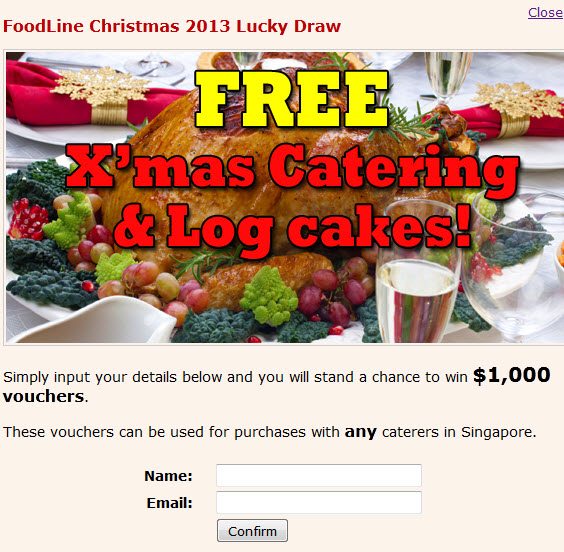 Christmas buffet promotion