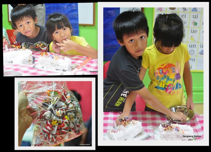 kids making logcakes