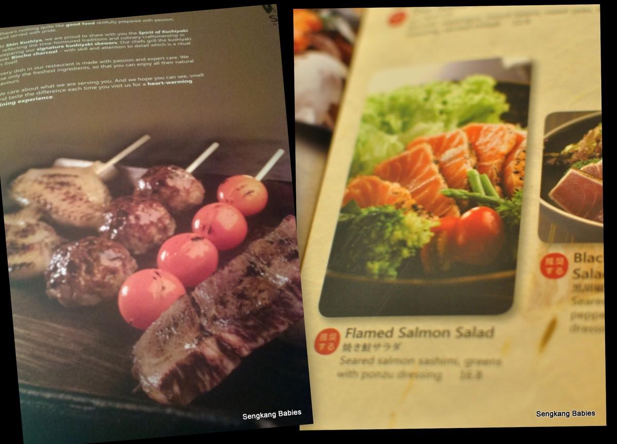 Shin Kushiya menu