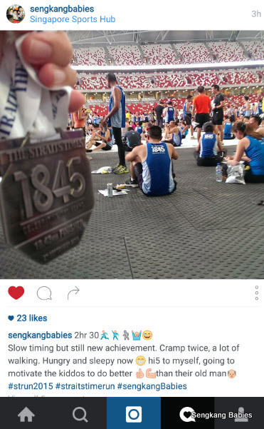 Straits Time run 18.45 km finisher