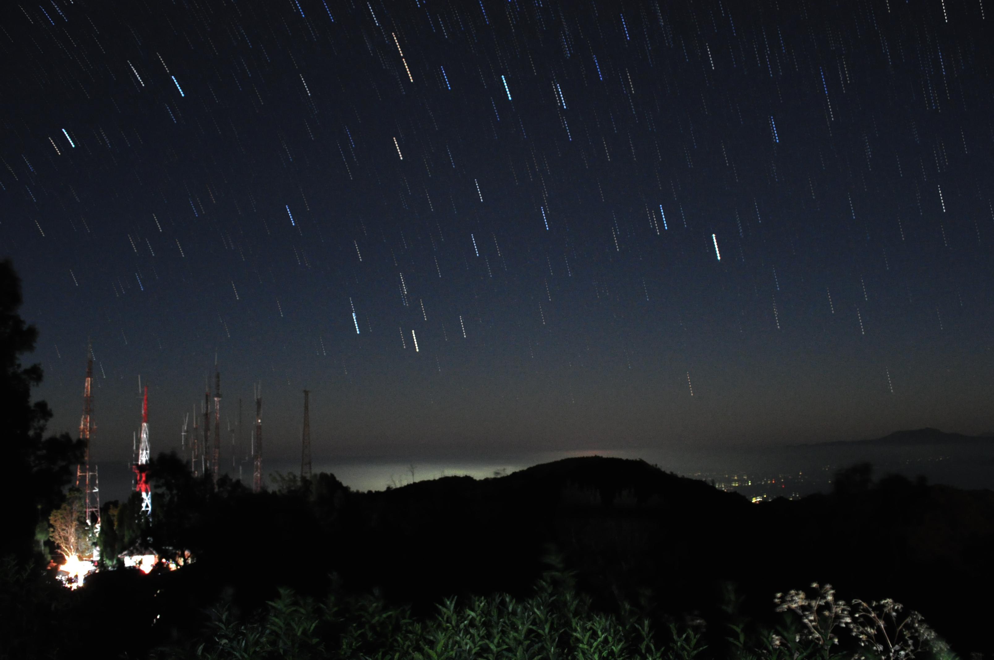 Star Trail Mount Bromo