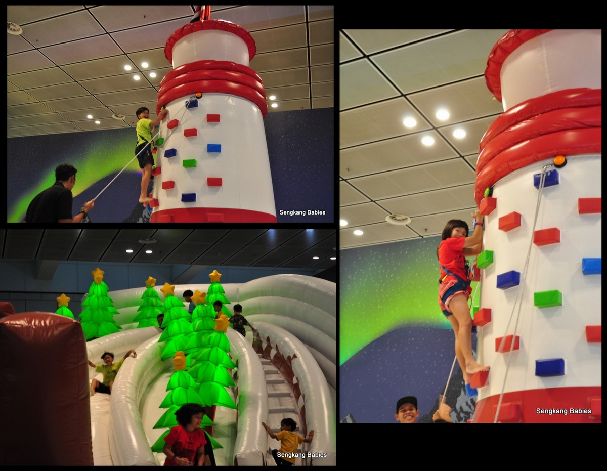 Changi Airport bouncing castle