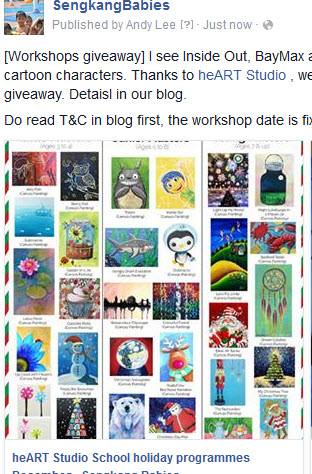 heart studio workshops giveaway