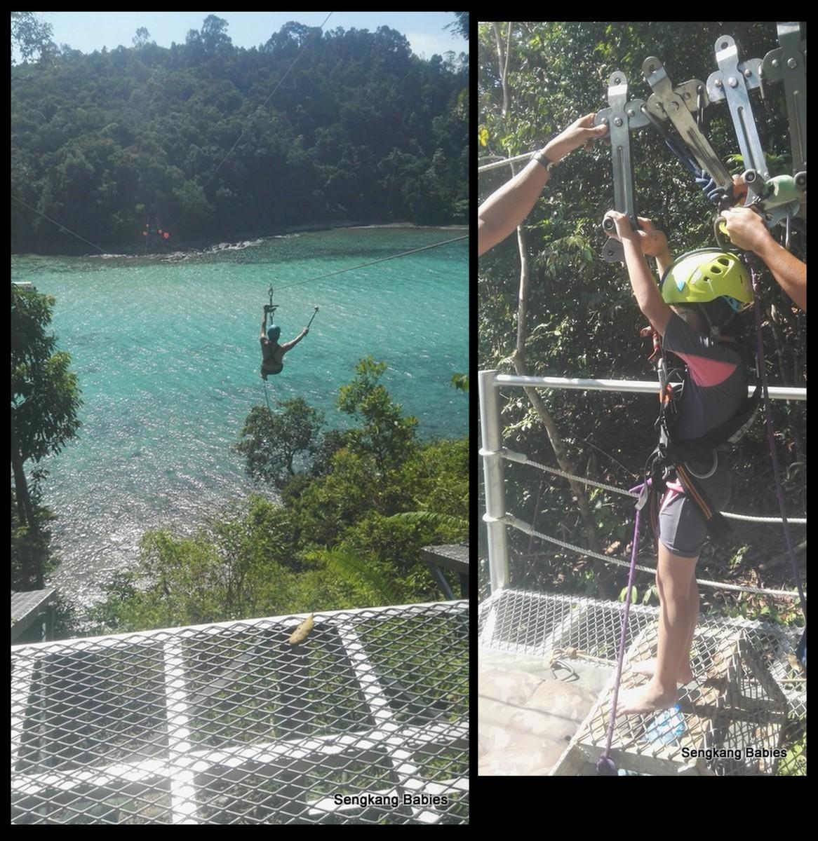 sabah coral zipline