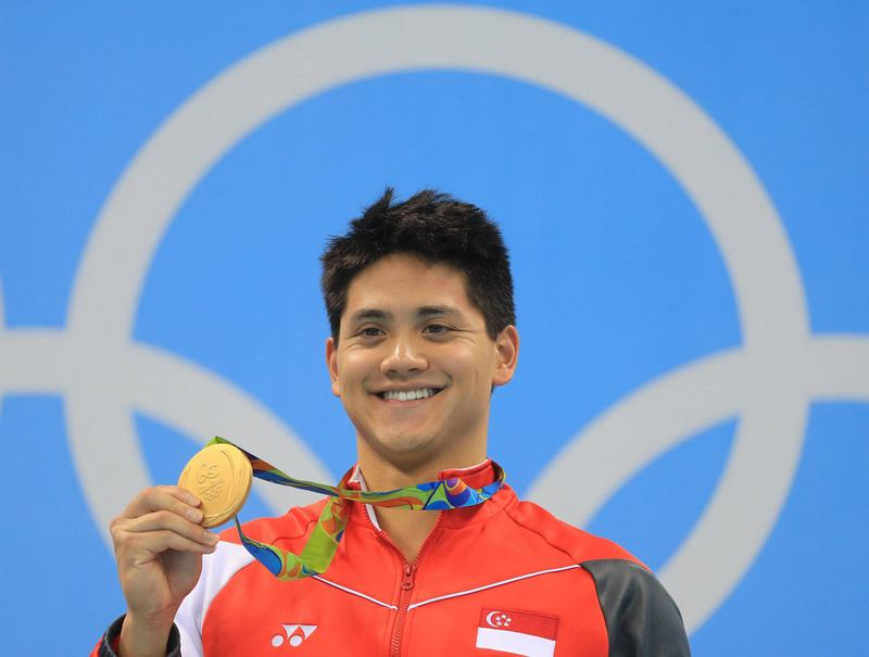 Joseph Schooling swimming GOLD