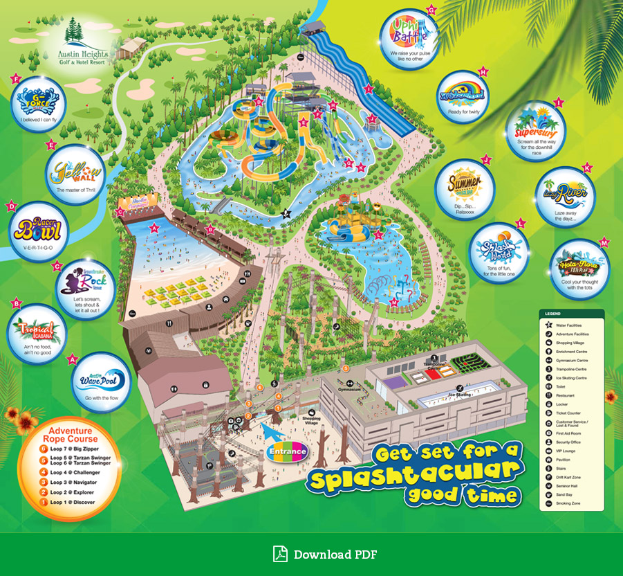 Austin Heights Waterpark map