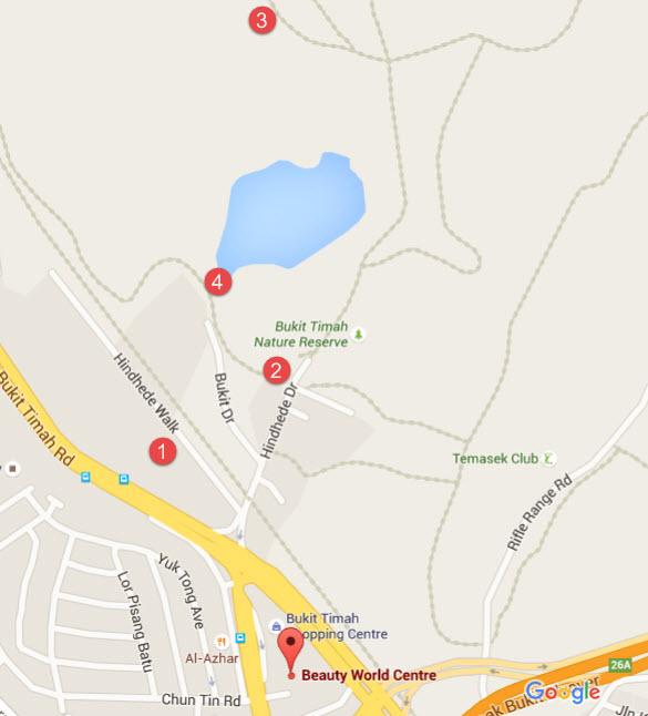 Bukit Timah hill map