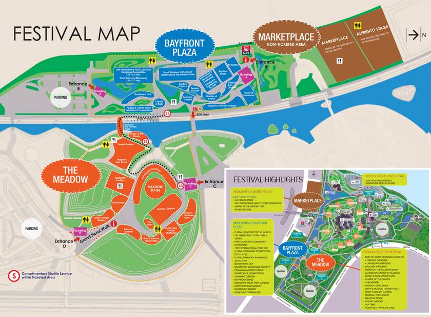 Singapore Garden Festival map