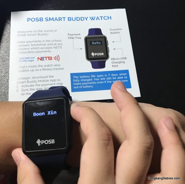 POSB Smart Buddy watch