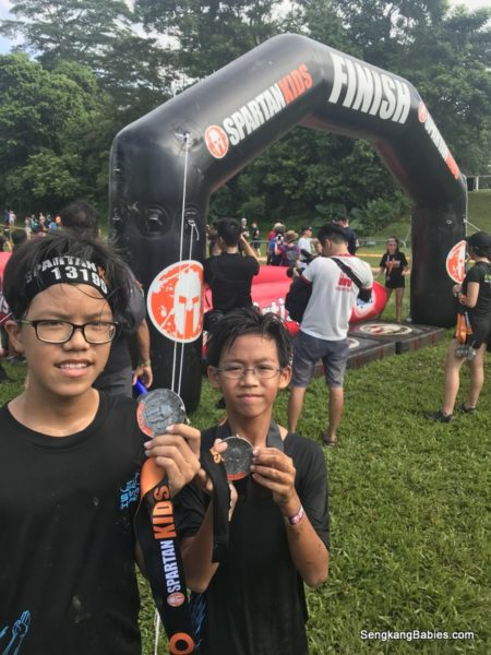 Mud and Fun at Spartan Kids Singapore BTSC