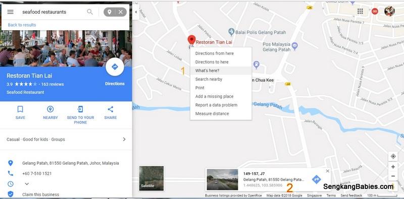 Google Map search nearby restaurant Archives - Sengkang Babies