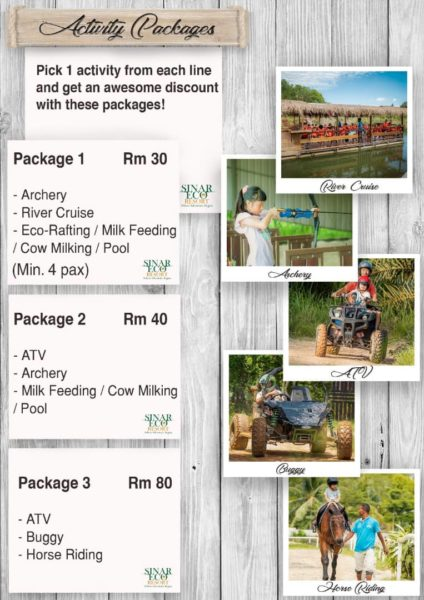 Sinar Eco Resort activities
