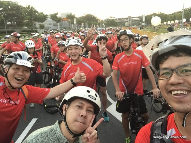 OCBC Cycle 2018 with son and kakis