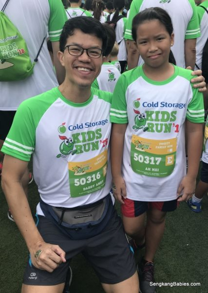 First Run with my girl at Cold Storage Kids Run 2018