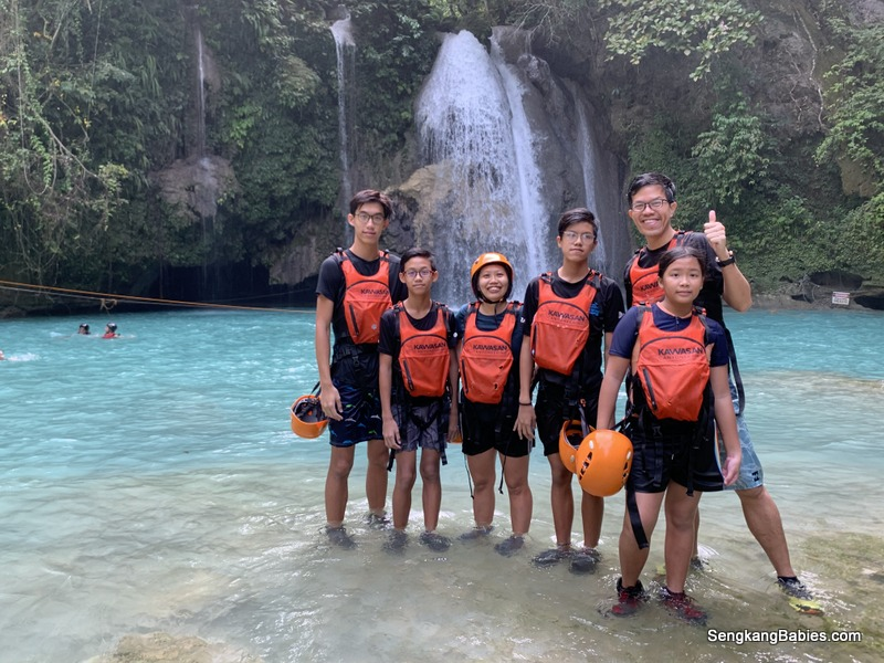 Kawasan Falls canyoneering with family