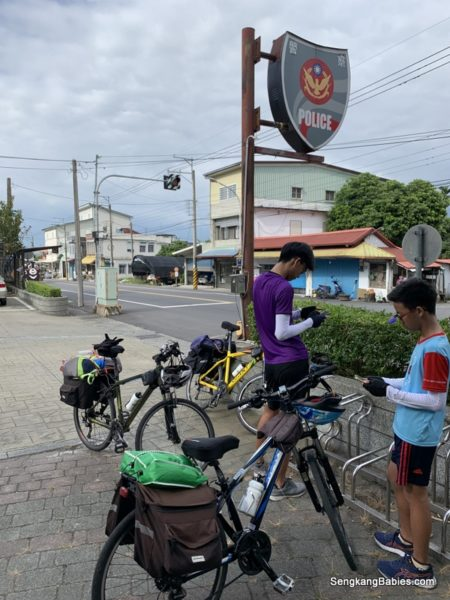 Taiwan Police Station cyclists
