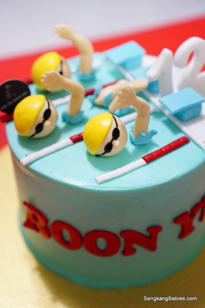 Swimming Birthday from Bob the Baker Boy cakes
