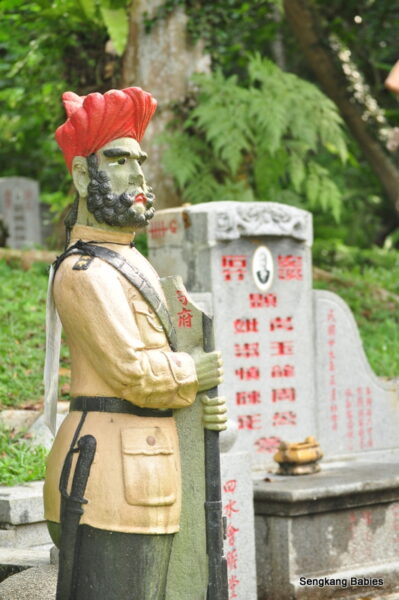 Bukit Brown Cemetery Sikh guard
