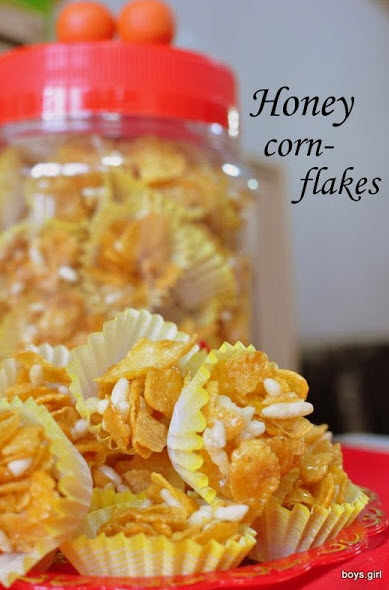 Chinese NEw Year Honey Corn Flakes