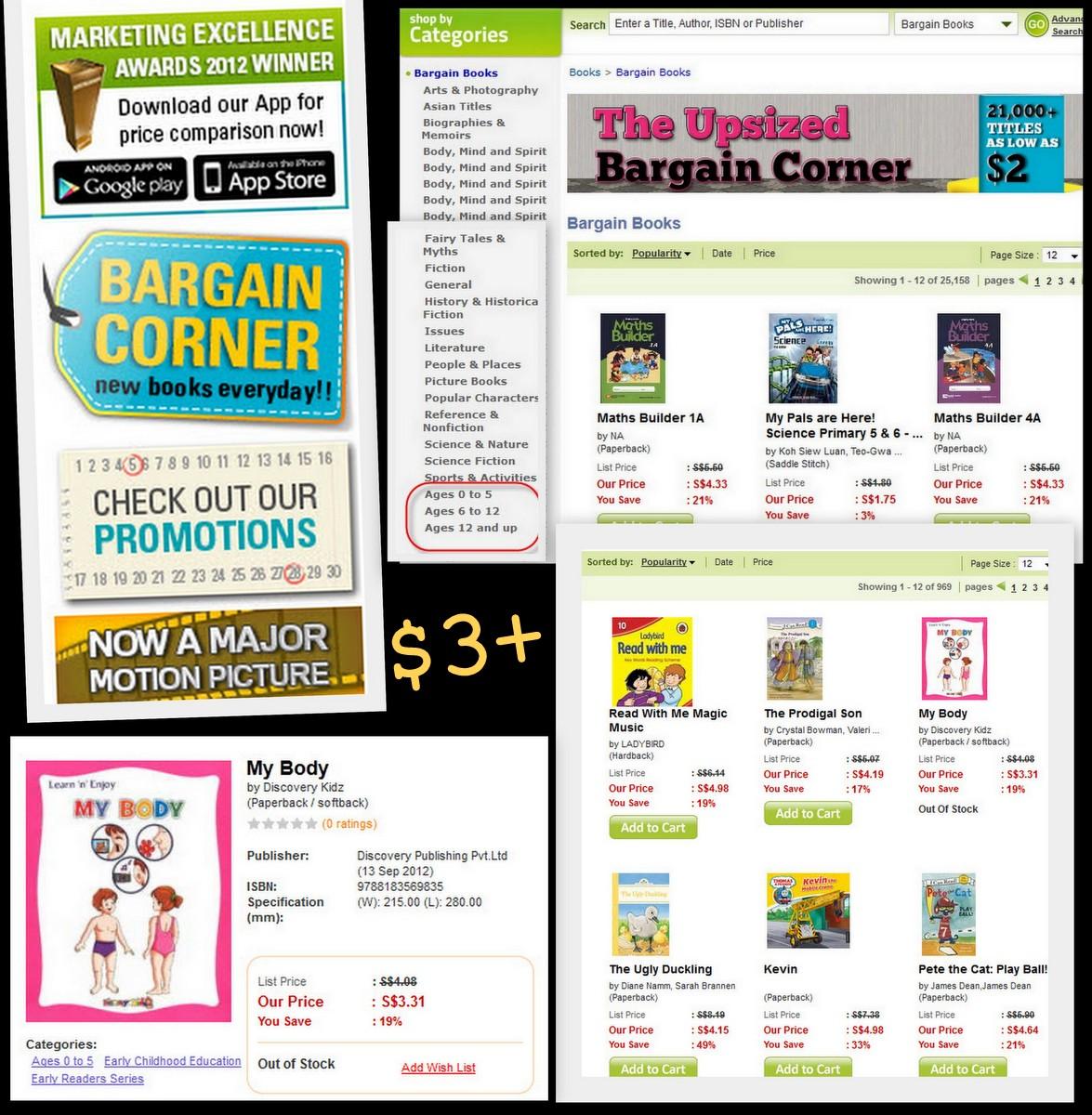 Bargain book stores, range of books NoQ