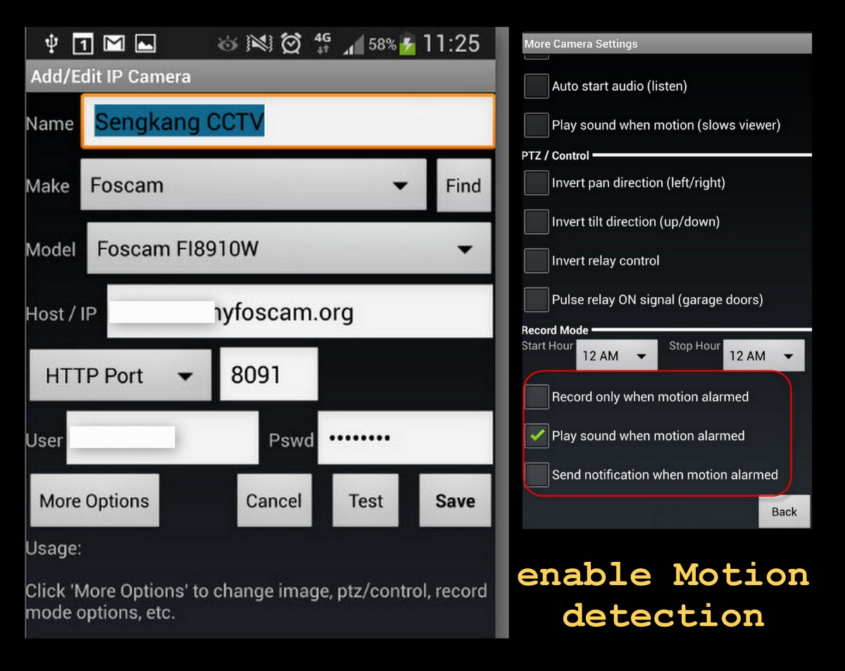 How to configure IP Cam, IP Cam android