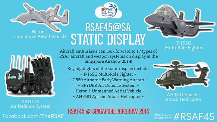 RSAF anniversary static display; apache at Singapore Air Show