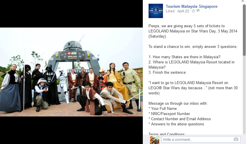 Legoland Malaysia free tickets