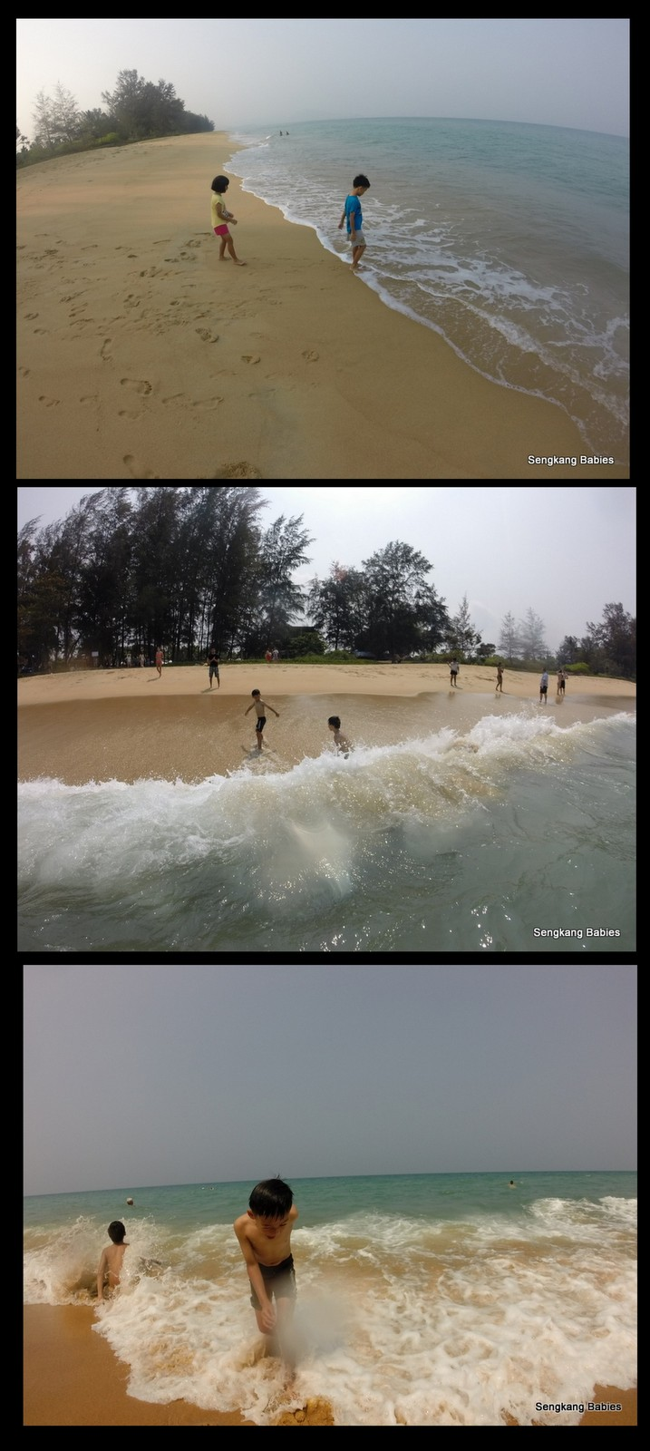 Beach waves Phuket Mai Khao