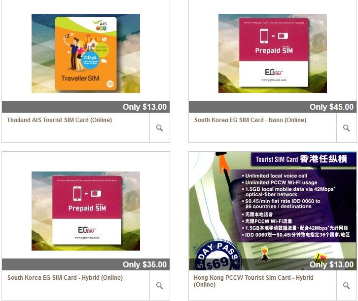 Changi Recommends sim cards destination