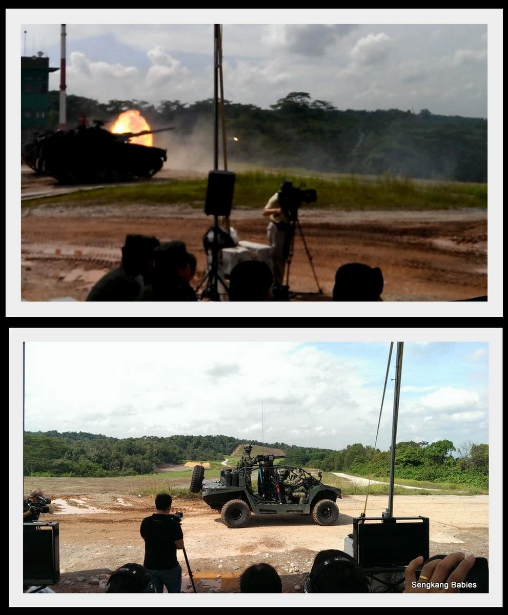 Singapore Armour live firing