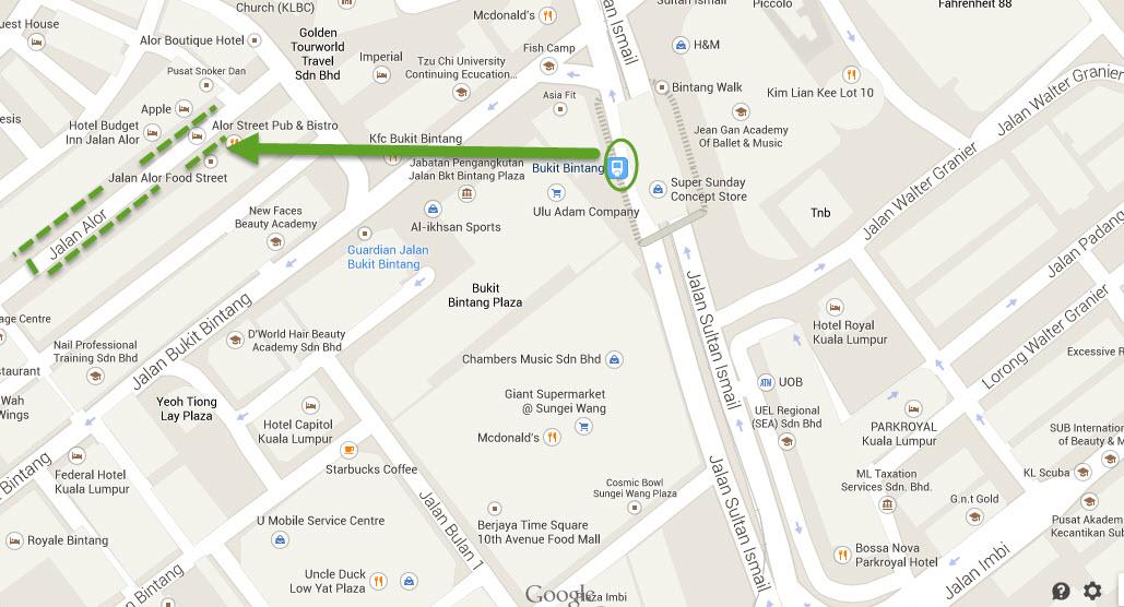 Map of Jalan Alor