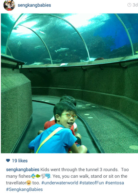 Tunnel Underwater World Sentosa