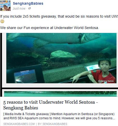 Underwater World Sentosa promotion