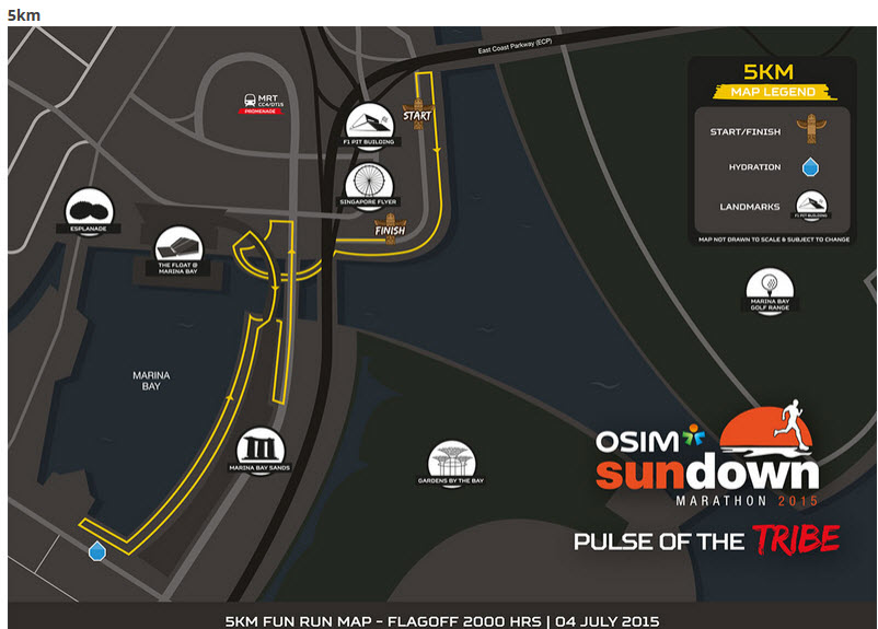 Sundown 5km route
