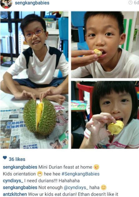 kids durian feast