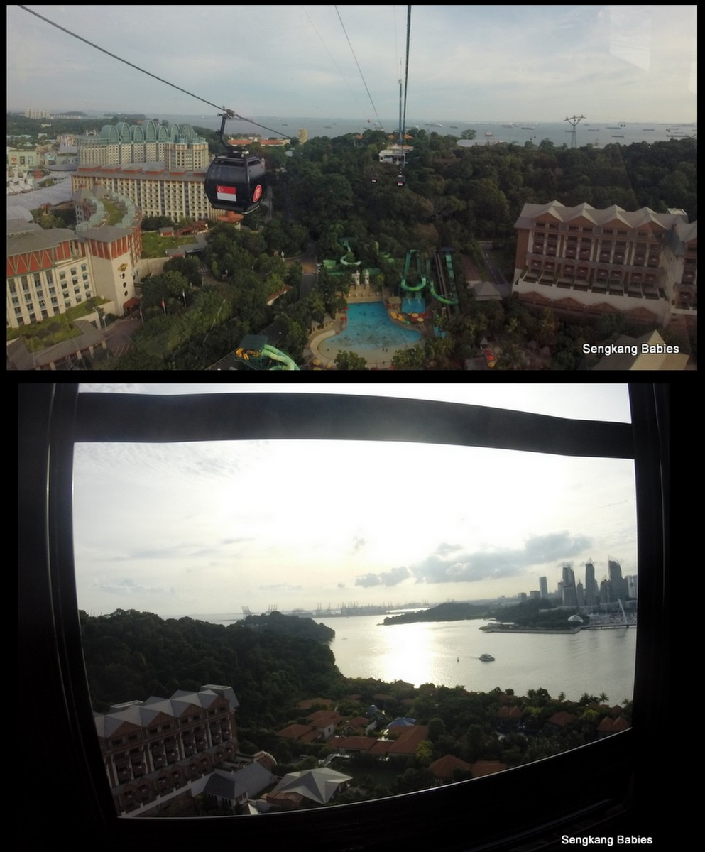 view from sentosa cable car