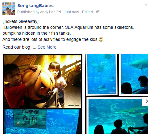 SEA Aquarium contest