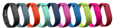 Fitbit Flex colourful