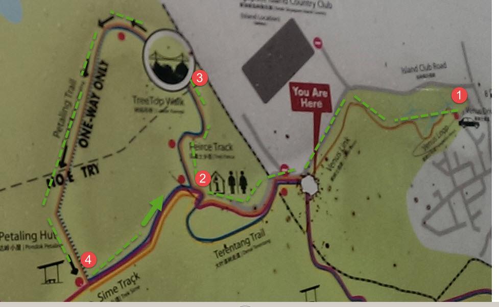 Macritchie Tree Top walk map