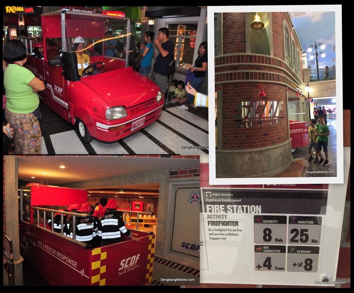 Kidzania Singapore fire engine