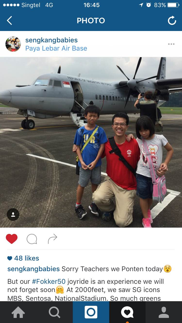 Air force open house with family