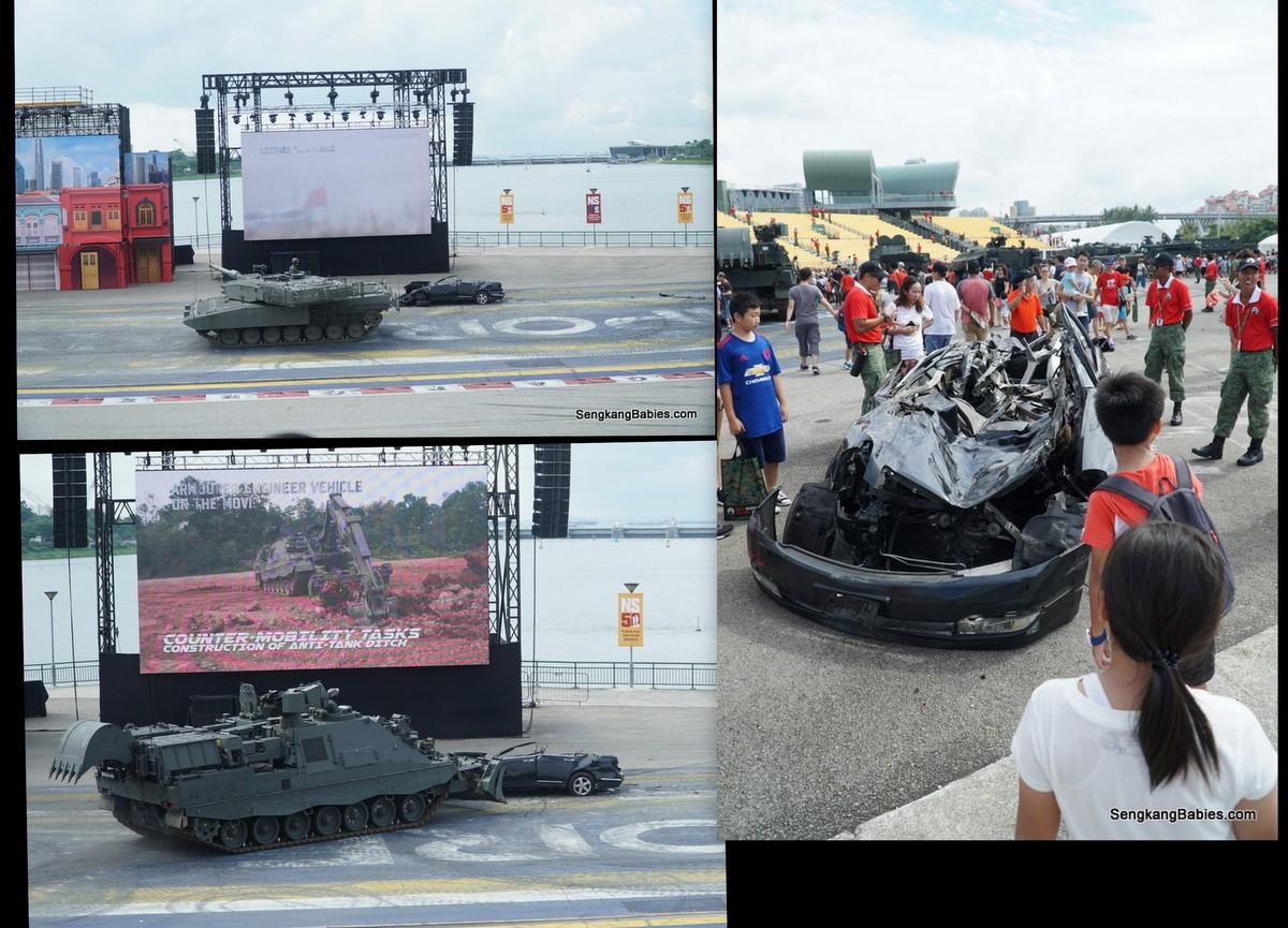 Leopard tank cursh car