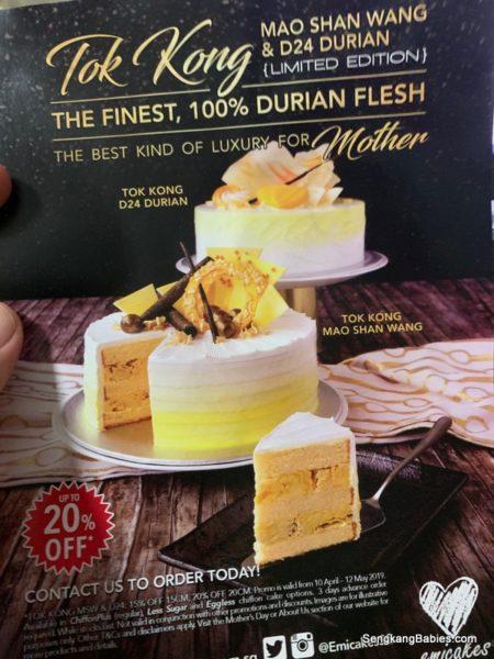 Emicakes Durian cakes